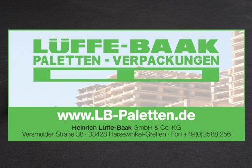Paletten und Holzkisten kaufen bei Heinrich Lüffe-Baak GmbH & Co.KG in 33428 Harsewinkel-Greffen
