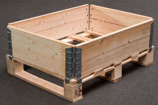aufsetzrahmen 800 x 600 x 195 mm 4fach faltbar ippc paletten holzkisten kaufen. Black Bedroom Furniture Sets. Home Design Ideas