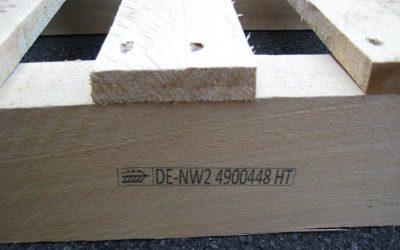 Palettenkennzeichnung gemäß ISPM 15