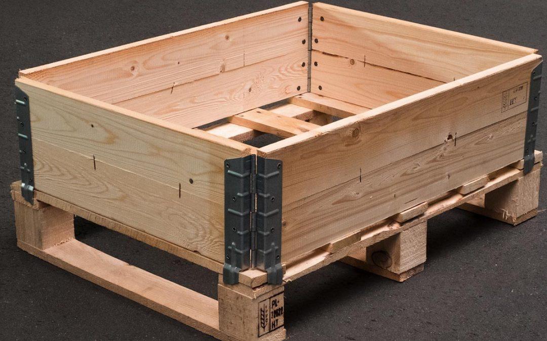 Packgutsicherung durch Holzaufsatzrahmen
