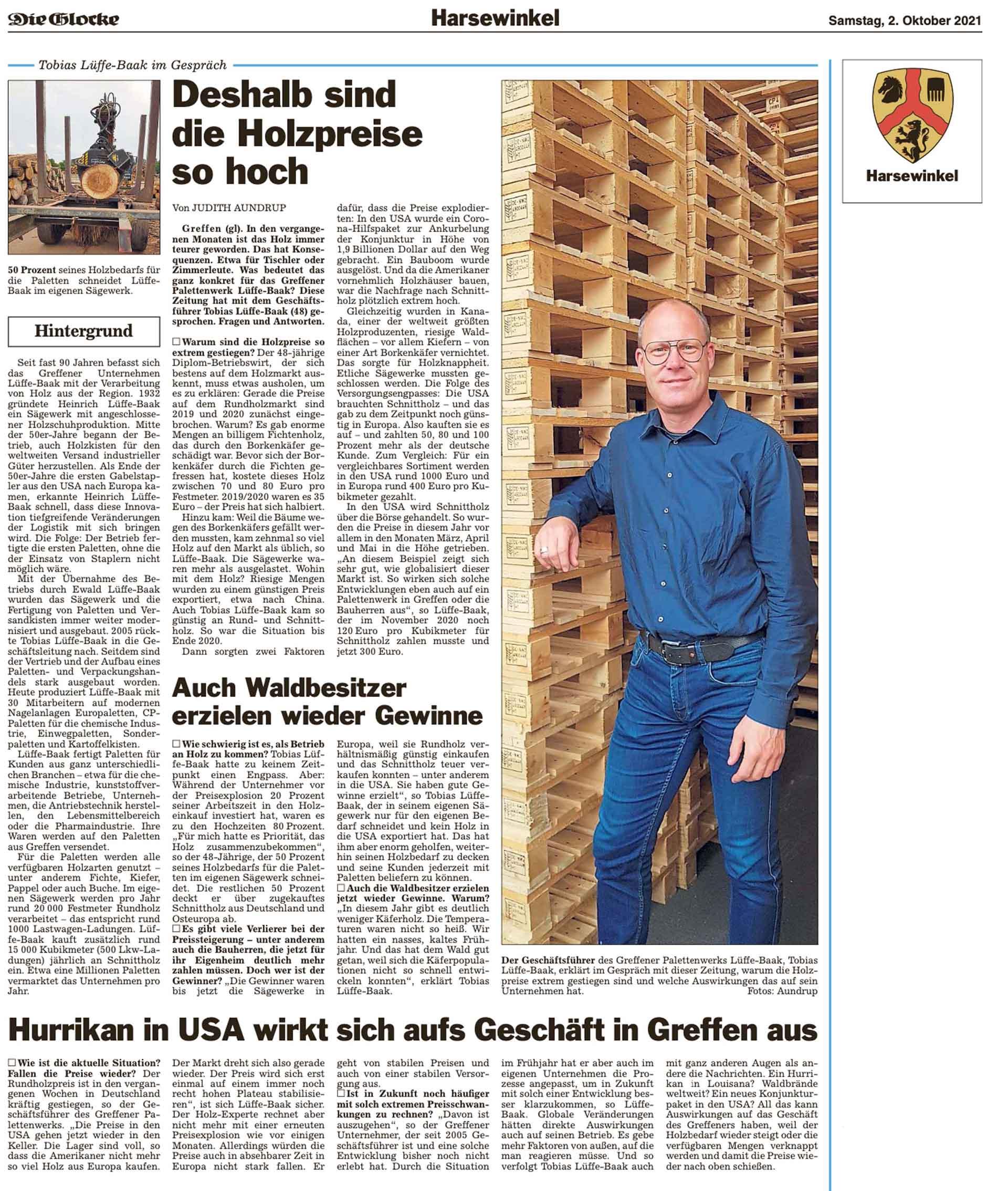 Deshalb sind die Holzpreise so hoch - Tobias Lüffe-Baak im Gespräch